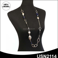 2015 new popular bead leather costume jewellery