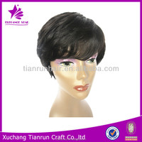 fashion short 100% raw unprocessed virgin malaysian human hair lace front wig