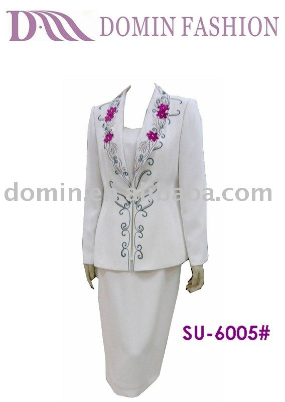 Embroidery Elegant ladies charming Skirt Lady Suit