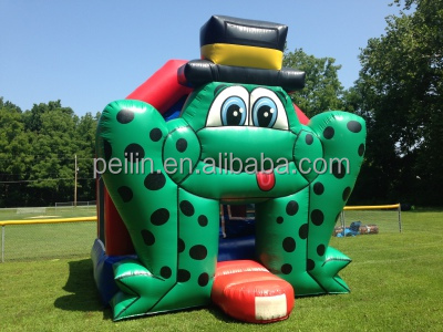 The frog in the hat, giant inflatable frog moonwalk bounce house