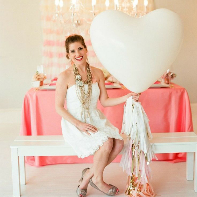 1PC Giant Heart Wedding Anniversary Party Balloon, 36Inch 90CM Jumbo Heart Shape Lover Wedding Pink Balloon