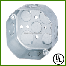 UL Listed Octagonal Electrical Metal Outlet Box Size With Combination Knockouts