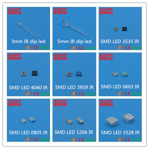 SMD 1206 IR 850nm 40degree LED