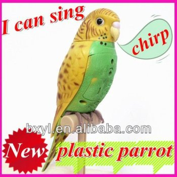 Singing Parrot with Sensor artificial birds