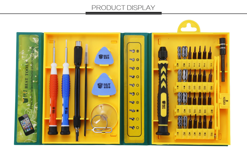 New Version 38 in 1 DIY Household Magnetic Precision hand tool Screwdriver Set for Mobile Phone Computer Repair Tool Kit