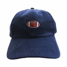 American football logo dad hats deep blue color