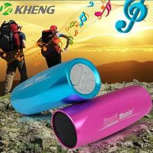 Mini Aluminum Speaker Outdoor Sports Music player Bicycle Sound Box MP3 Player Speaker FM Radio TF Card