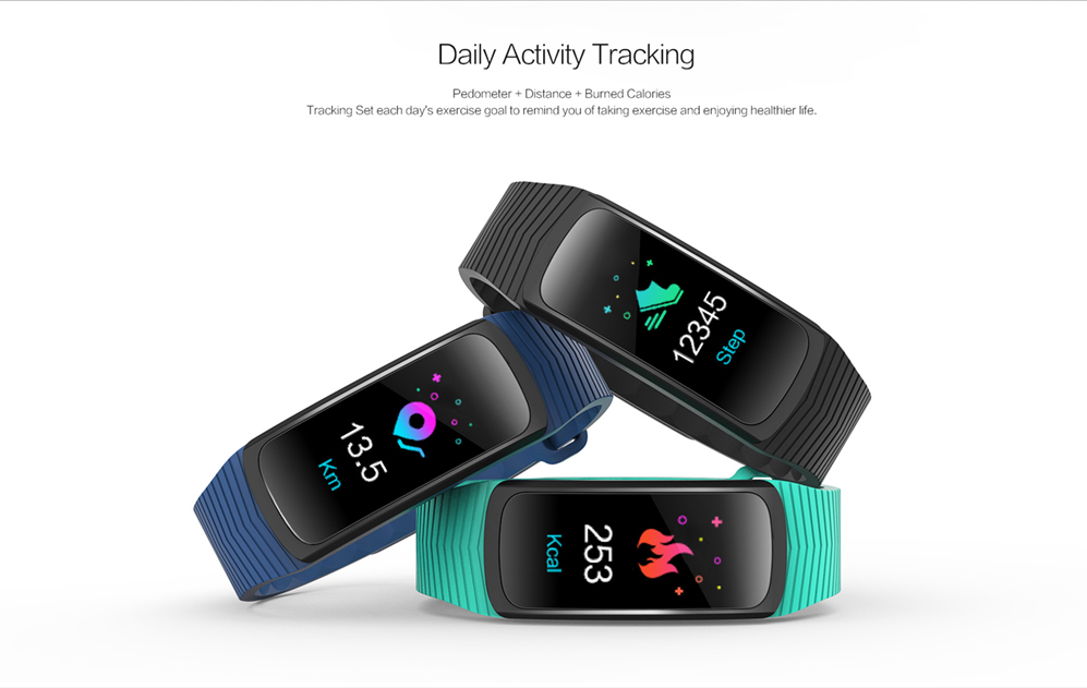 SMA IP68 Waterproof Sleep Activity Fitness Smart Bracelet Wearable Activity Tracker With Heart Rate B3
