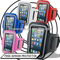 Promotional Neoprene+PU Frosted Super slim sport armband for iphone 5