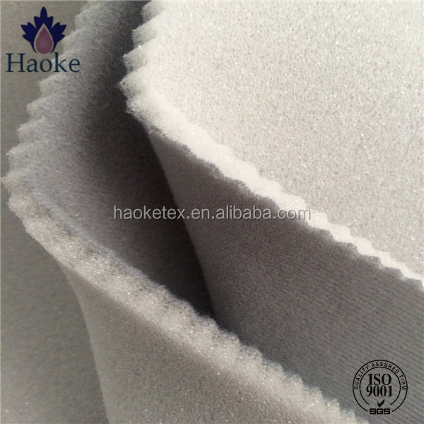 tricot plush fabric sponge foam bonded car headliner fabric