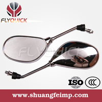 FLYQUICK classic motorcycles mirror for sale and motorbike racing bike side mirror for mirror for Suzuki Honda Yamaha