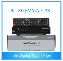 Hot new 751MHZ dual core cpu enigma 2 linux os satellite receiver zgemma twin tuner ZGEMMA H.2S smart tv receiver