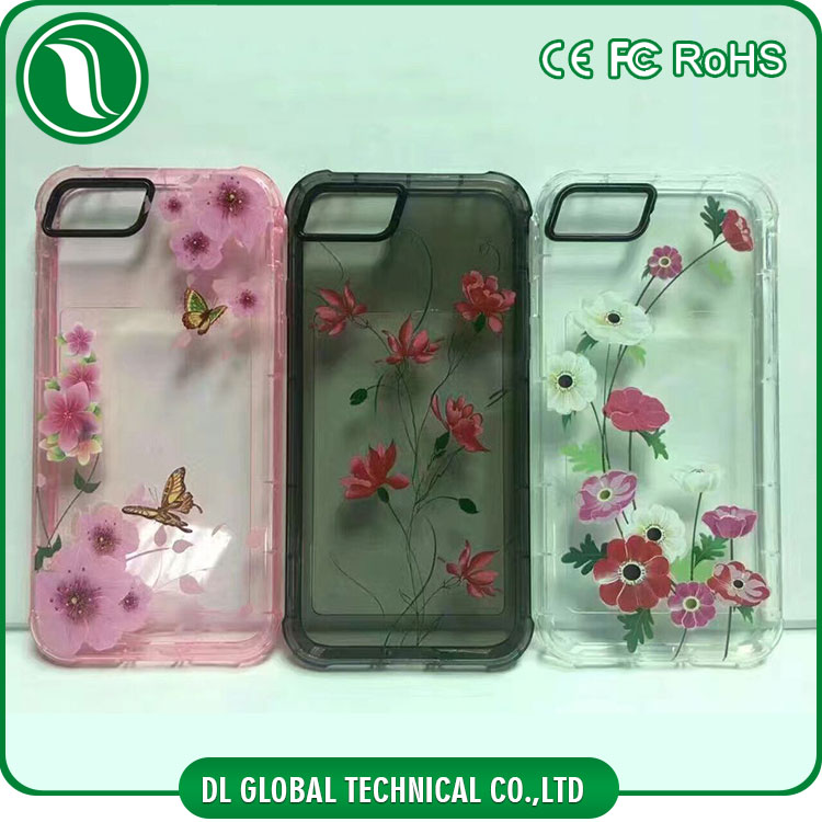 New design tpu para celulares protective cases with camera guard ring printed phone back cover of flower figure