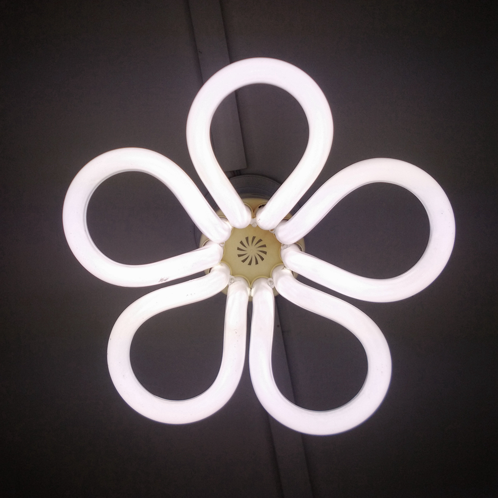 China brand hot sale cfl tricolor 5u flowers 105w energy saving lamp