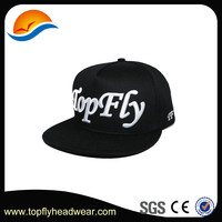 Manufacture simple black 3D embroidery letters vintage snapback cap