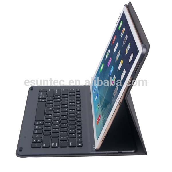 Wireless bluetooth keyboard for ipad pu case bluetooth keyboard , G1505