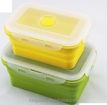 2016 Hot Sale Collapsible Food Storage Containers/Folding Plastic food storage container/Silicone Collapsible Lunch Bento Box