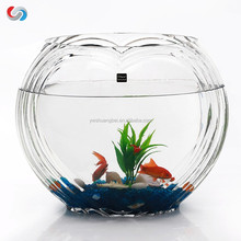 Heart Shaped Transparent Cheap Fish Tank For Decoration