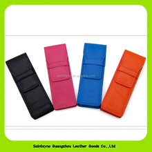 15016 Custom highly quality promotional Eco-friendly Italy leather pen bag double pcs