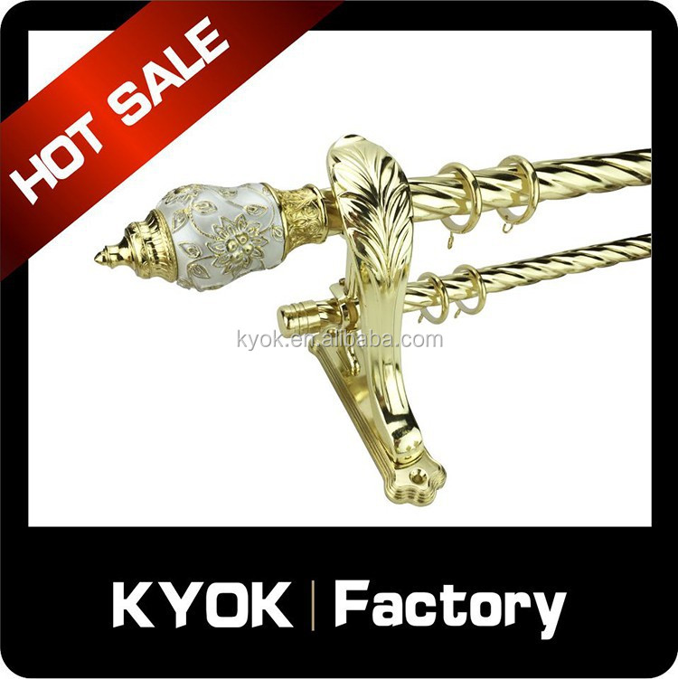 KYOK New Shape & Metal Curtain GP Rod Finals, Home Decorative Curtain Poles, Heavy Duty Curtain Pipe Caps