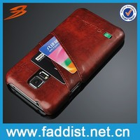 China Alibaba retro leather cover for samsung s5 cover case with card slot