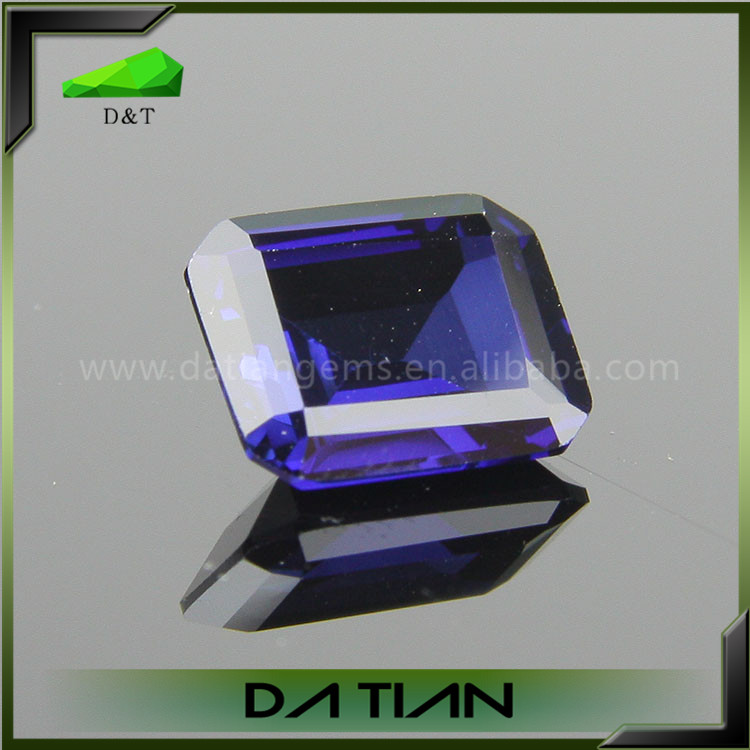 Loose Gemstone Emerald Cut Lab Sapphire Price Per Carat