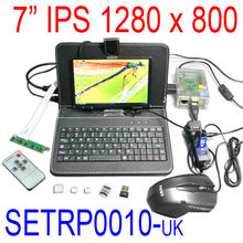 High quality Plug SETRP0010 Raspberry Pi Accessories kit - 7 inch IPS LCD 1280 X 800 HDMI board keyboard mouse wifi USB HUB