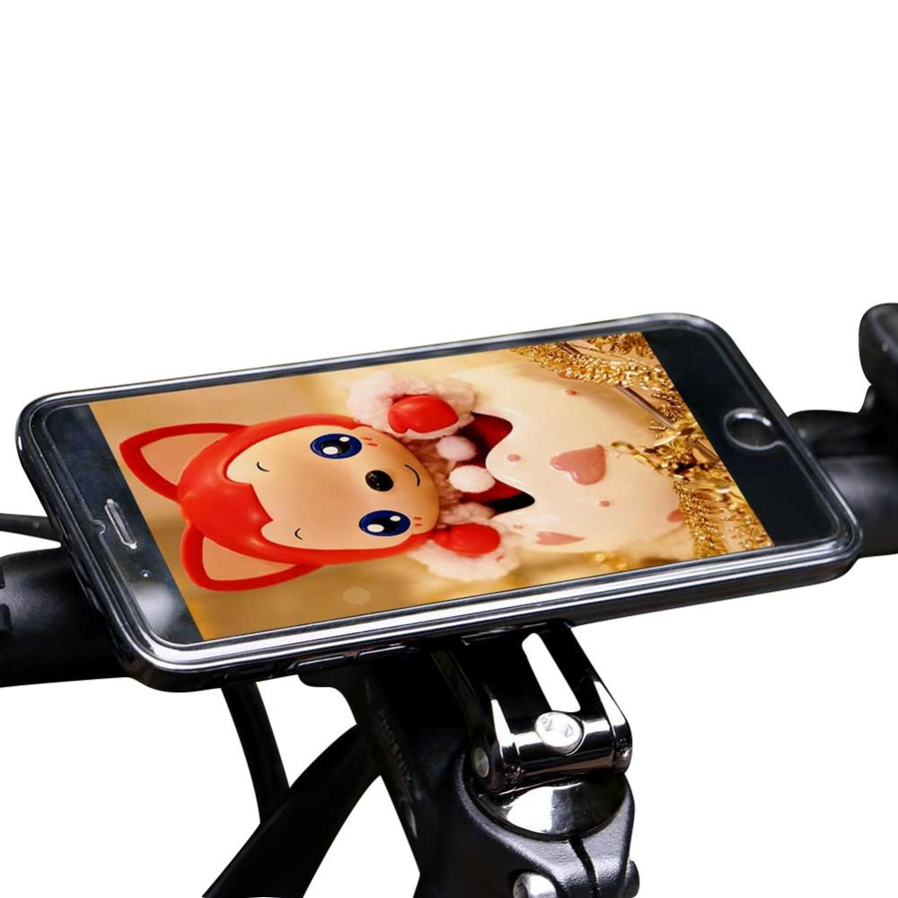 Cycling Aluminum Alloy Bike Phone Holder Stem Cap Mount for iphone 7 Accept custom logo