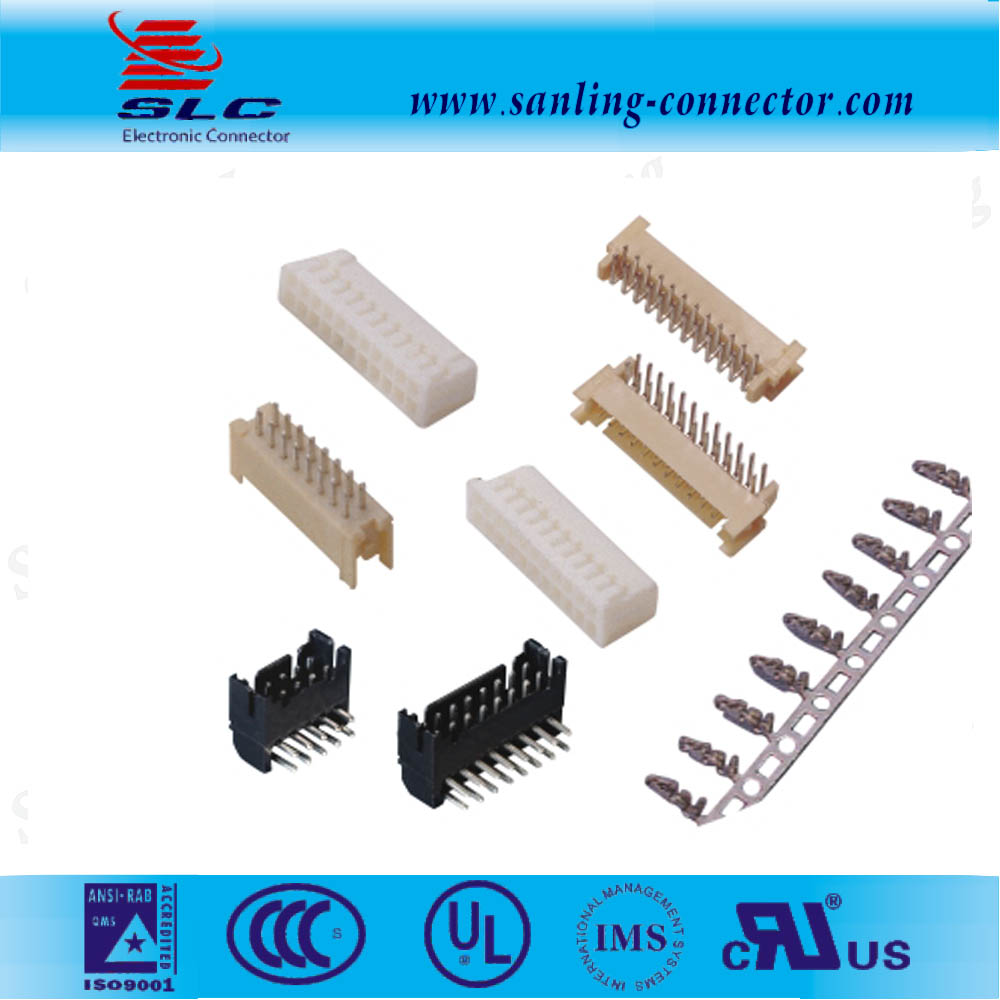 PA66 Pitch 2.0 mm crimp wire connector 3 way terminal housing