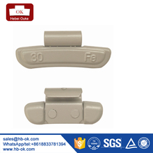 30g Forged fe clip on wheel balance weight for car