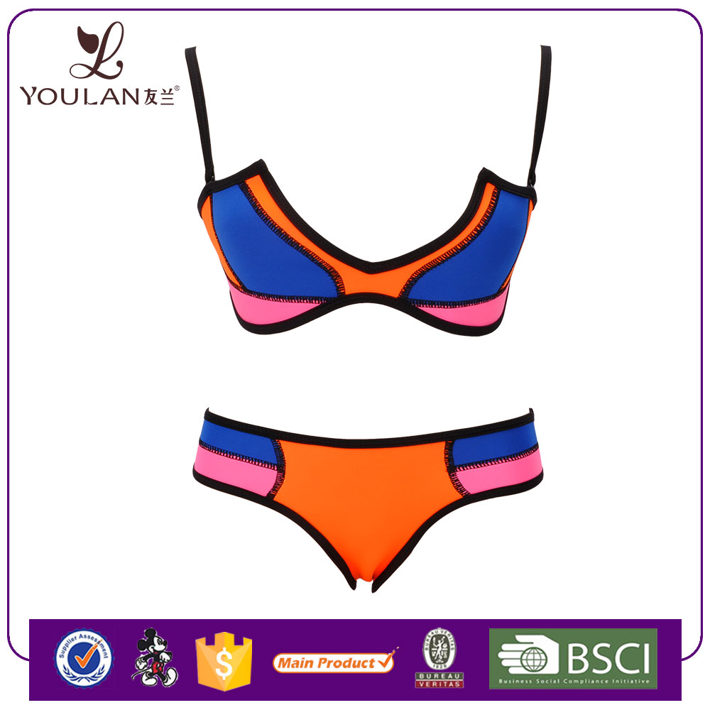 China Wholesale Comfortable Neoprene Push Up Young Girl Unlined Bikini Open Women Photos Women Swimwear
