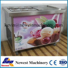 High production fried ice cream machine for commercial shop/instant ice cream rolls machine/thailand fry ice cream machine