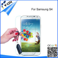 2.5D Ultra-Thin high quality screen protector Tempered Glass for Samsung Galaxy S4 I9500 with hard plastic retail box