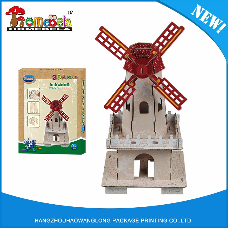 Guaranteed quality proper price cartoon 3d puzzle
