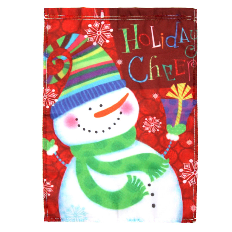 Holiday Cheer Snowman Garden Flag Carrot Nose Winter Christmas Gifts 18'' 13'' Indoor Flags Custom Home Banner Flag Gift