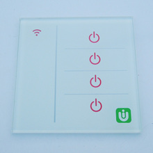 manufacturer custom intelligent tempered touch sensor switch glass plate