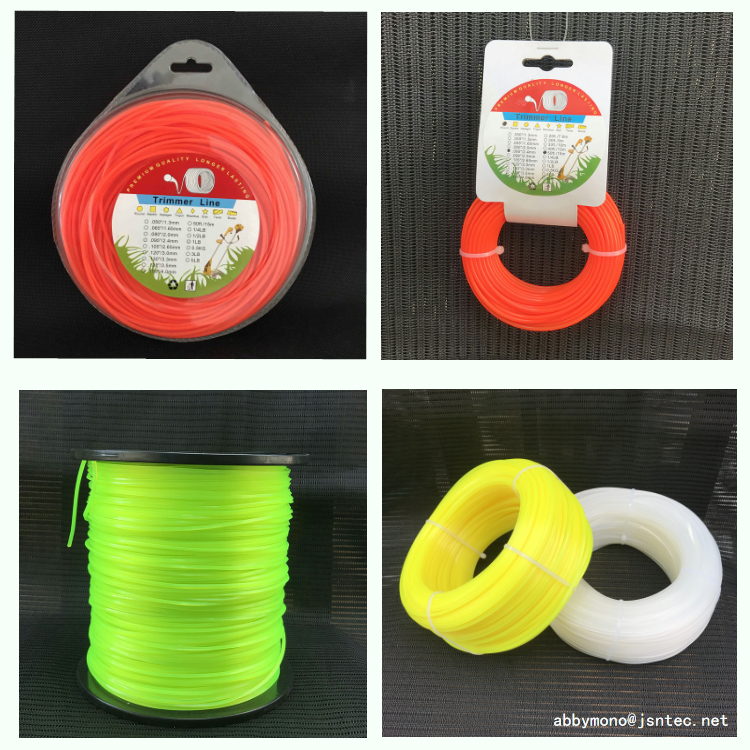 1.0mm to 4.5mm round square star hexagon heptagon Nylon trimmer line