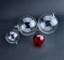 clear hollow glass balls