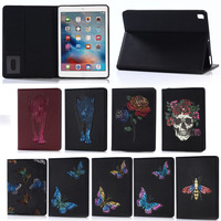 3D Colorful Printing Leather Tablet Cover for ipad 2017 , for ipad new case