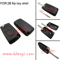 Citroen C3 C4 without logo and 2 button flip remote car key with 307 blade