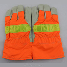 reflective orange gloves personal safety equipment for hand protection