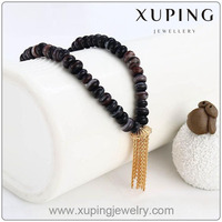 Xuping 18K gold color Hip hop jewelry fashion bead necklace 42302