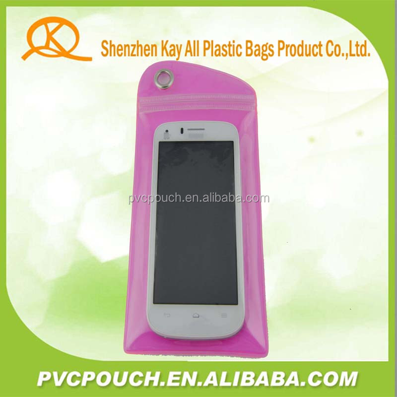 best selling products recycle clear pvc cell phone pouch for smart phone use