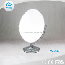Chrome finished Factory fancy makeup mirror for angles