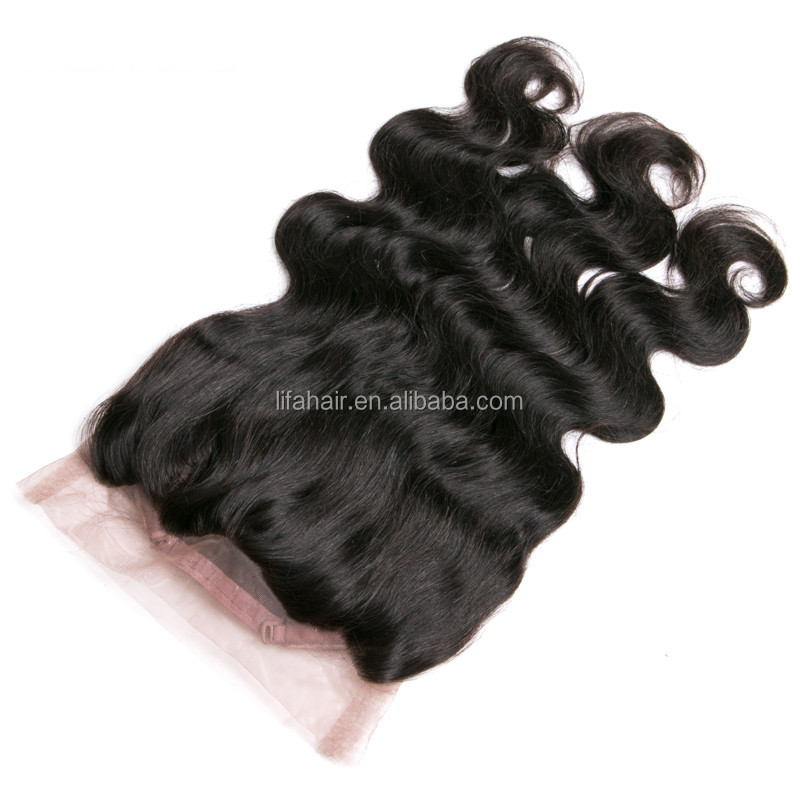 360 lace frontal with bundles human hair lace frontal piece 100% virgin hair