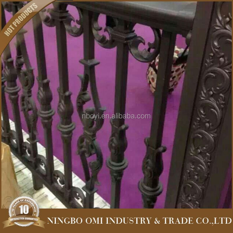 Outdoor handrail with Italian steel balcony railing designs/decorative wrought iron outdoor handrails/models railings for balcon