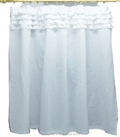 180T 50% Cotton 50% Polyester Shower Curtain Embroidery Design