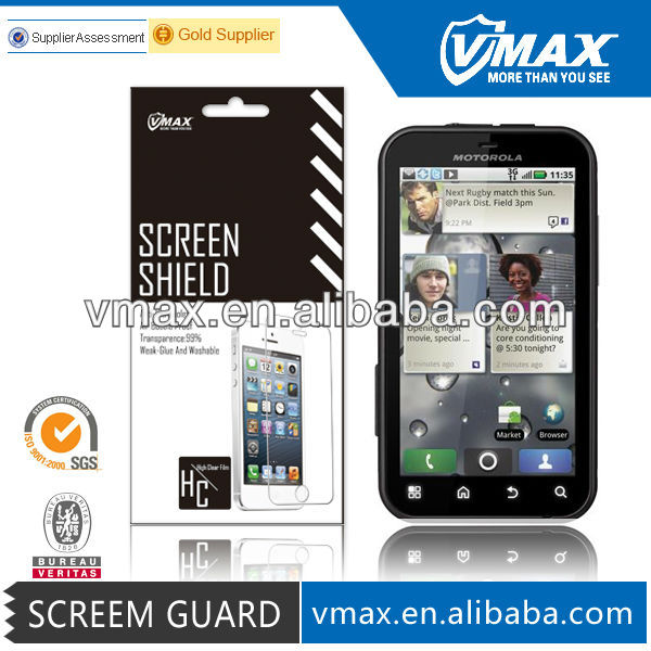 For motorola defy screen protector