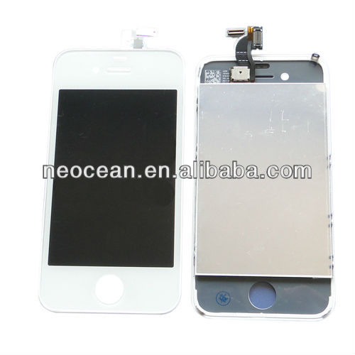 "3.5"" for Iphon4GS white mobile phone LCD complete,accept paypal"