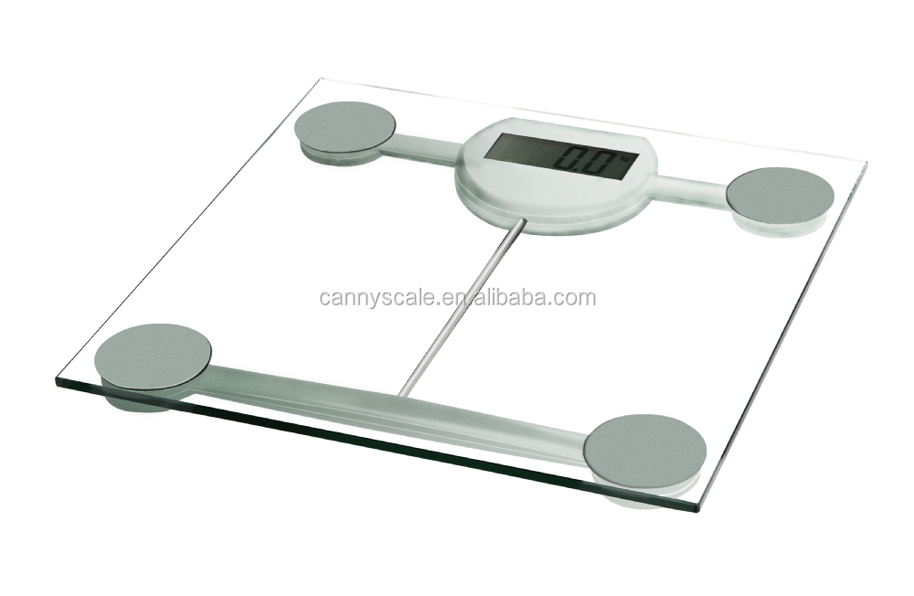 Cheap and clear bathroom scale with blue backlight option